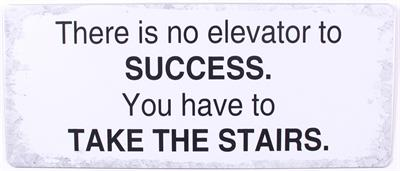 Metall Schild There is no elevator to success....