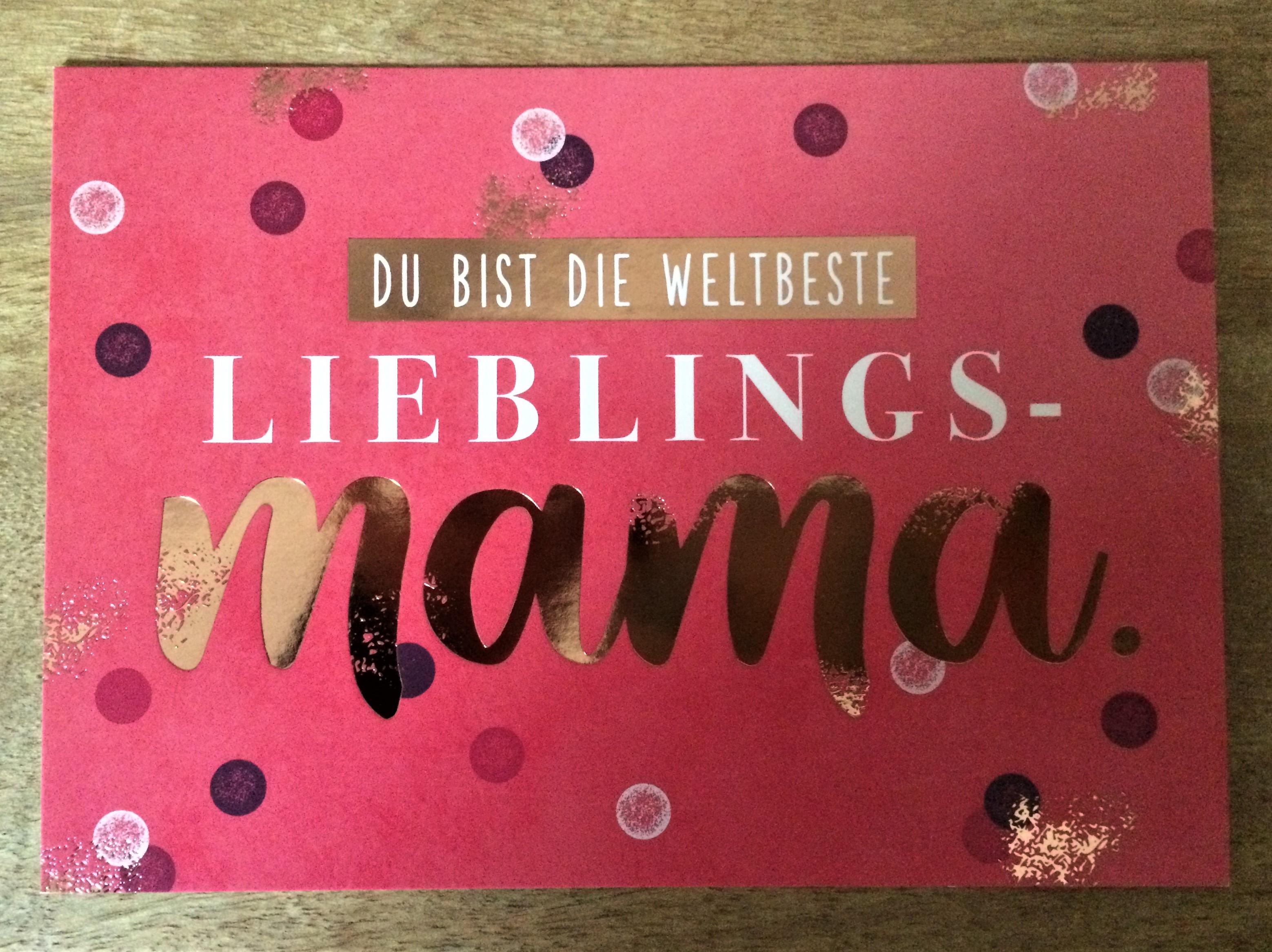 Nützlichgrusskarten - Postkarte Du bist die weltbeste Lieblings Mama. - Onlineshop Tante Emmer