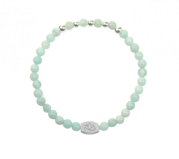 MAS jewelz Armband Amazonit/ Silber 4mm