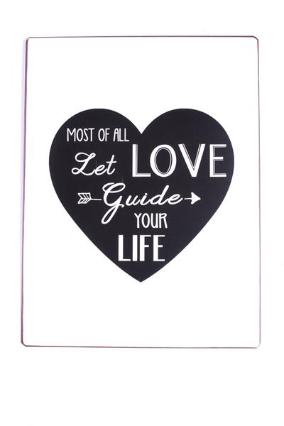 Witzigschilder - Metall Schild Most of all let love guide your life - Onlineshop Tante Emmer