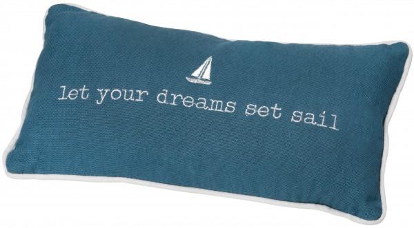 "Traumkissen ""let your dreams set sail"" räder"