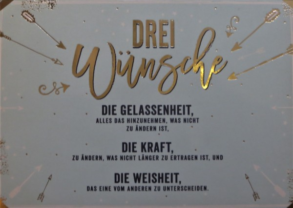 """Postkarte """"Drei Wünsche..."""" VintageArt"""