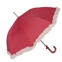 Regenschirm rot mit weißen Punkten