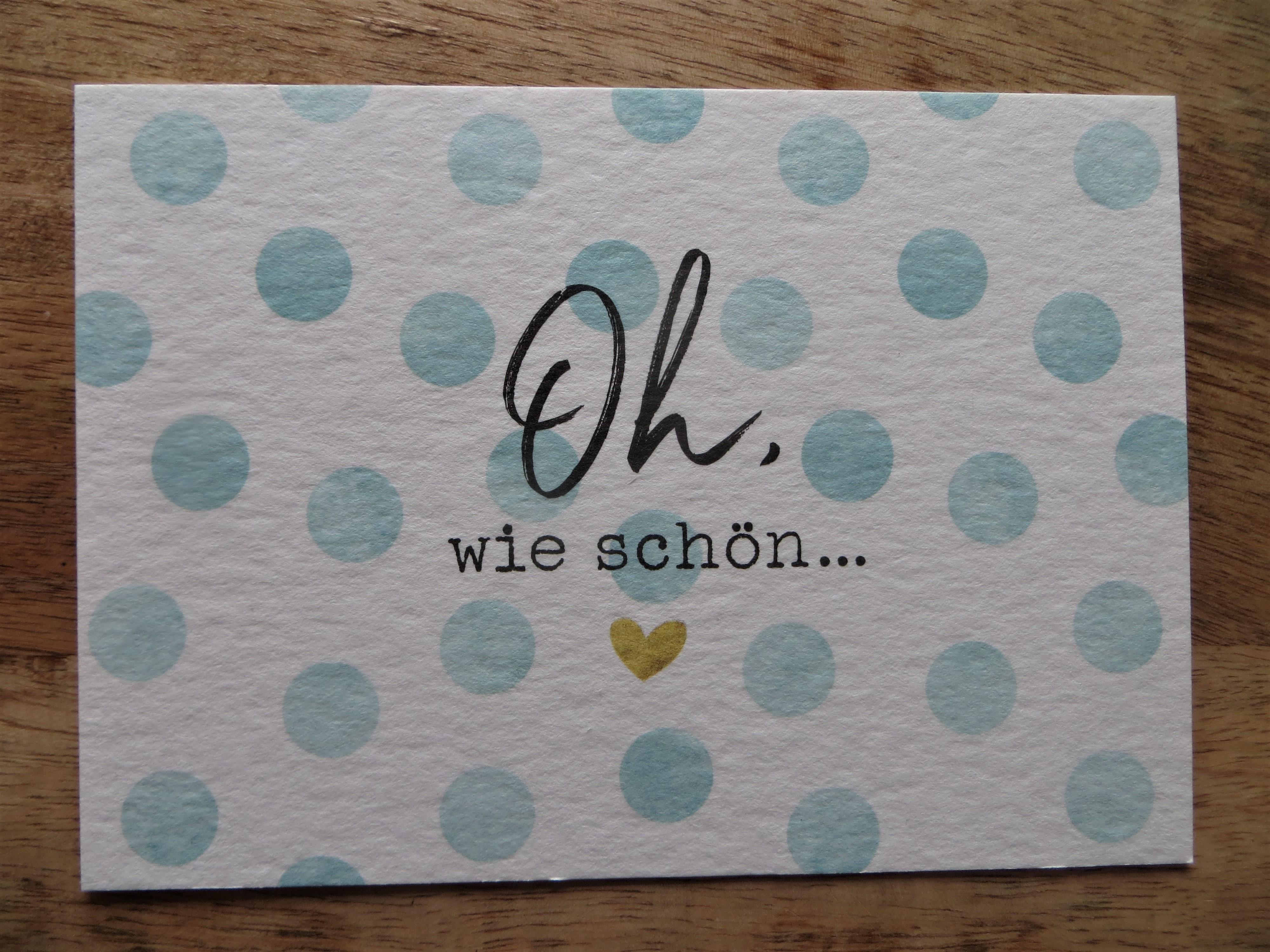 Nützlichgrusskarten - Postkarte Oh wie schön... KUNST und BILD - Onlineshop Tante Emmer