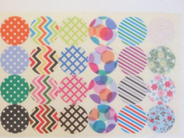 Washi Sticker rund und bunt