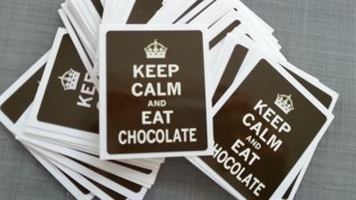 "Sticker / Aufkleber ""Keep calm and eat chocolate"" La Finesse"