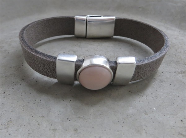 QOSS Armband KIM Grau-Puderrosa, M