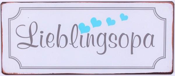 """Metall Schild """"Lieblingsopa"""""""