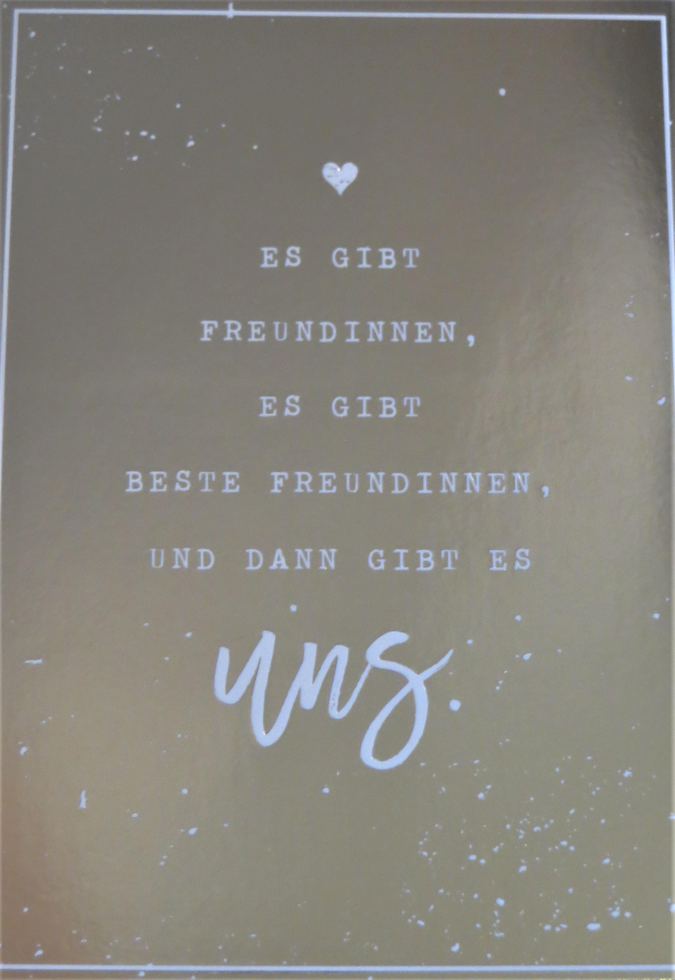 Nützlichgrusskarten - Postkarte Es gibt Freundinnen es gibt beste Freundinnen und dann gibt es uns. VintageArt - Onlineshop Tante Emmer