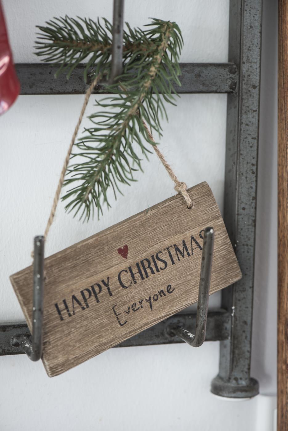 Witzigschilder - Holzschild HAPPY CHRISTMAS Everyone IB Laursen - Onlineshop Tante Emmer