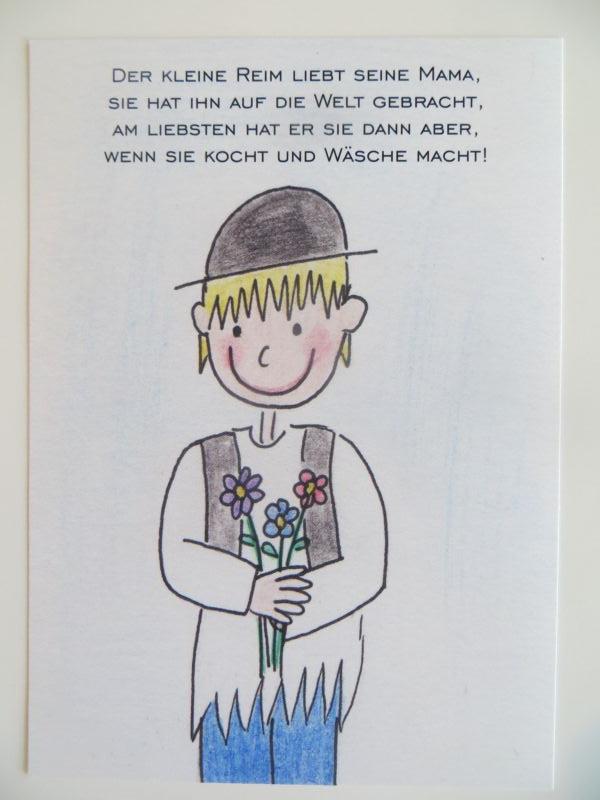 Nützlichgrusskarten - Der kleine Reim Postkarte Zum Muttertag - Onlineshop Tante Emmer