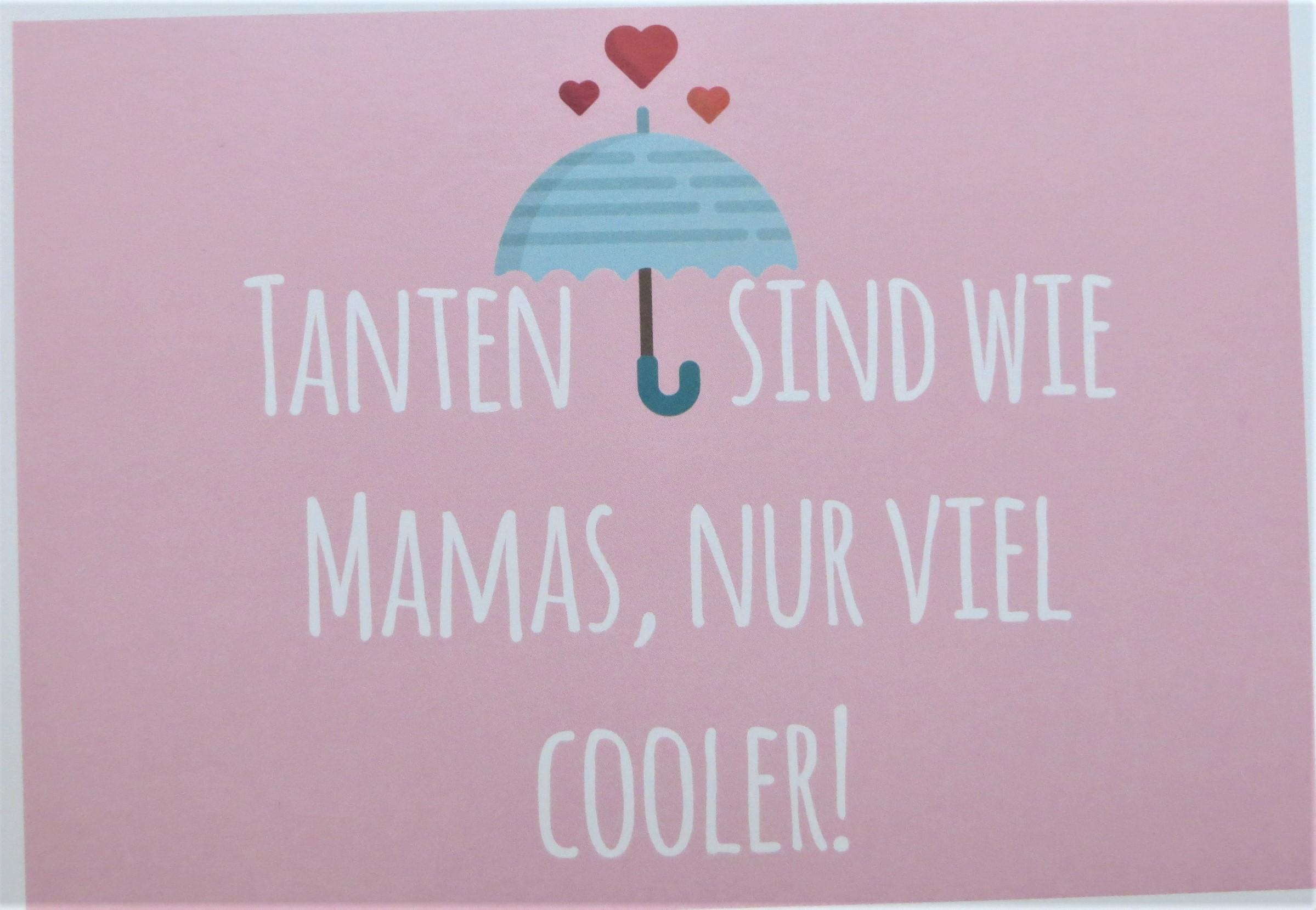 Karte Postkarte Tanten sind wie Mamas nur viel cooler