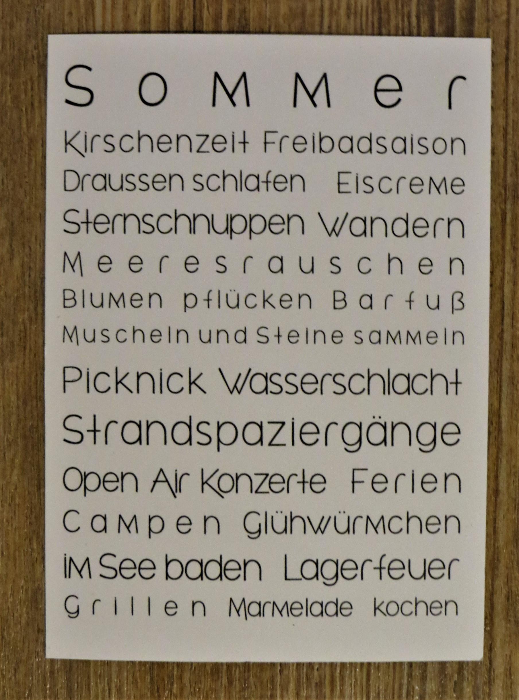 Nützlichgrusskarten - Karte Postkarte To Do Liste SOMMER - Onlineshop Tante Emmer
