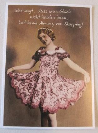"""Postkarte Karte """"Wer sagt, dass man Glück nicht kaufen kann..."""" Paloma"""