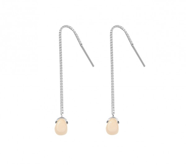 "MAS jewelz Ohrhänger/ Ohrring mit Anhänger ""Rosafarbener Opal"""
