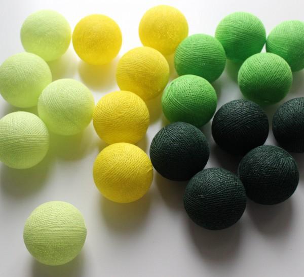 Cotton ball lights 20er Lichterkette Green
