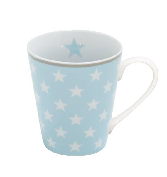Mug Kaffeebecher Blue star mit Henkel