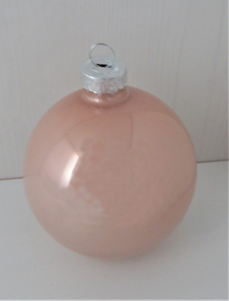 Christbaumschmuck Glaskugel rosa glänzend, 8 cm