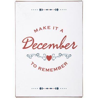 Witzigschilder - Metallschild Make it ab December to remember - Onlineshop Tante Emmer