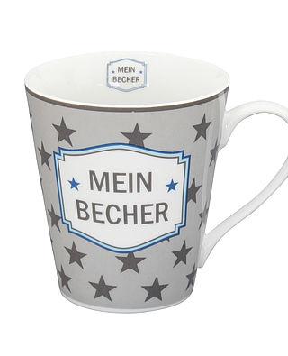 Mug Kaffeebecher Mein Becher in grau