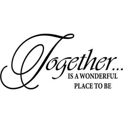 "Wallsticker Wandsticker ""Together... is a wonderful place to be"" schwarz LaFinesse"