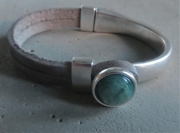 QOSS Armband GWEN grau--grün S