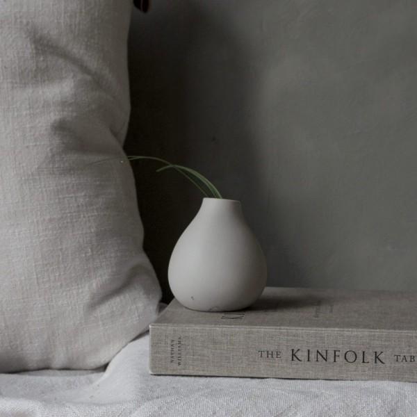 KÄLLA, Vase Hellgrau 9cm, Storefactory