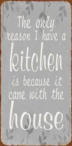 """Magnet """"The only reason I have a kitchen..."""" La Finesse"""