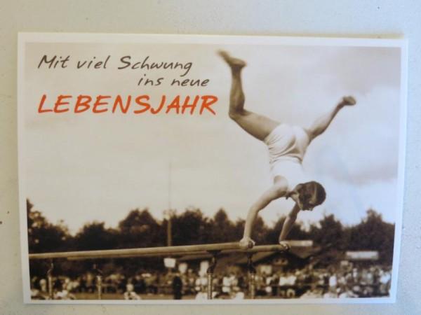 """Postkarte Karte """"Mit viel Schwung ins neue Lebensjahr"""" Paloma"""