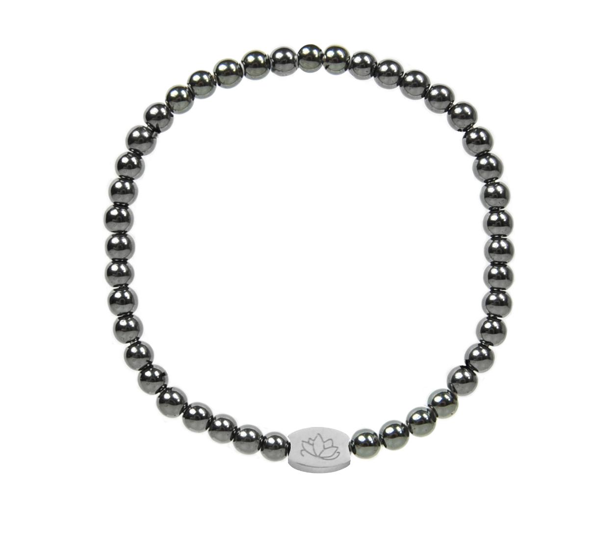 Armbaender für Frauen - MAS jewelz Armband Hämatit 4mm  - Onlineshop Tante Emmer