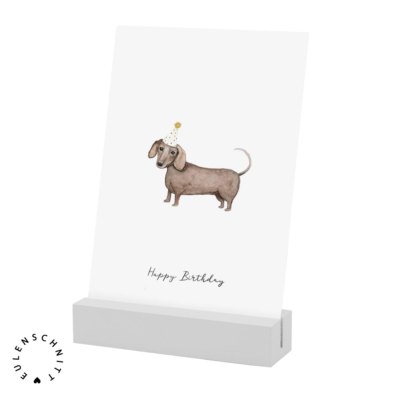 Nützlichwohnaccessoires - Kartenständer aus Holz Herz Weiß 2er Set Eulenschnitt - Onlineshop Tante Emmer
