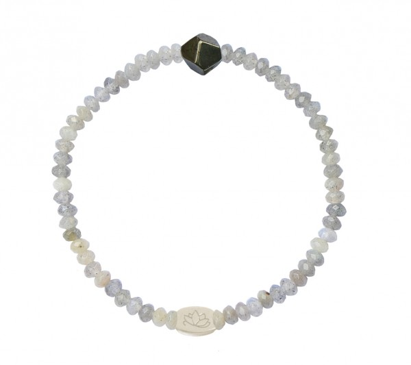 MAS jewelz Armband Labradorit/ Pyrit