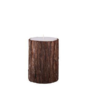 Kerze mit Rinde groß pures weiss broste copenhagen