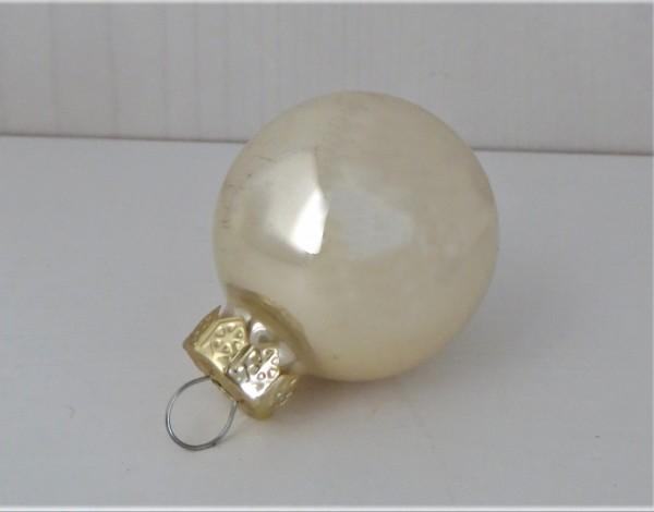 Christbaumschmuck Glaskugel perlfarben glänzend 35 mm