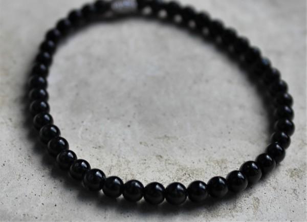 MAS jewelz Armband Schwarzer Stein 4mm