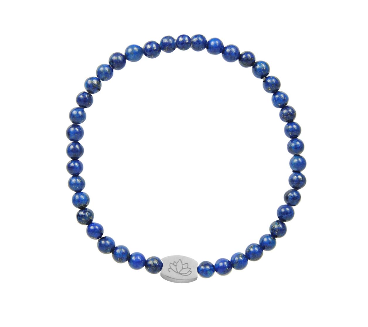 Armbaender für Frauen - MAS jewelz Armband Lapis Lazuli 4mm  - Onlineshop Tante Emmer