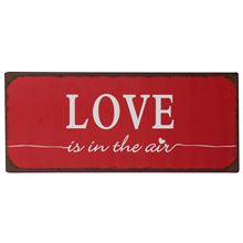 - Metall Schild Love is in the air - Onlineshop Tante Emmer