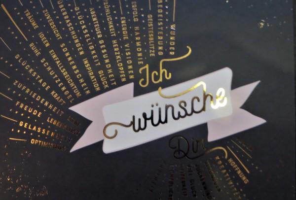 """Postkarte """"Ich wünsche Dir Power, Hoffnung, Kreativität, Vergnügen..."""" VintageArt"""