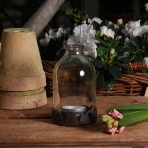 Windlicht Flaschenlaterne Gartenlaterne zum Hängen Madleys