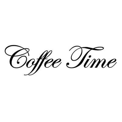 """Wallsticker/Wandsticker """"Coffee Time"""" schwarz La Finesse"""
