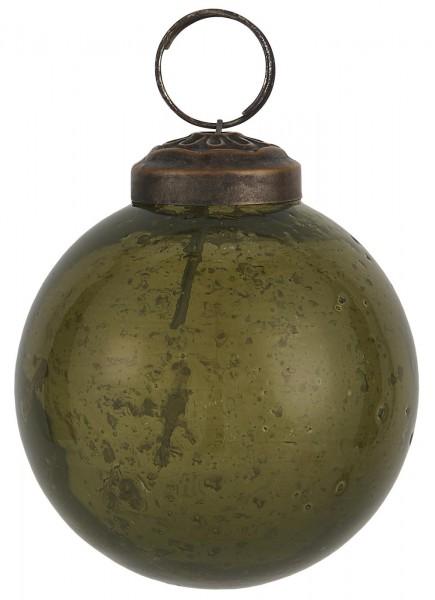 Weihnachtskugel pebbled glass olive 5,8 cm - Serie Stillenat - Ib Laursen ApS