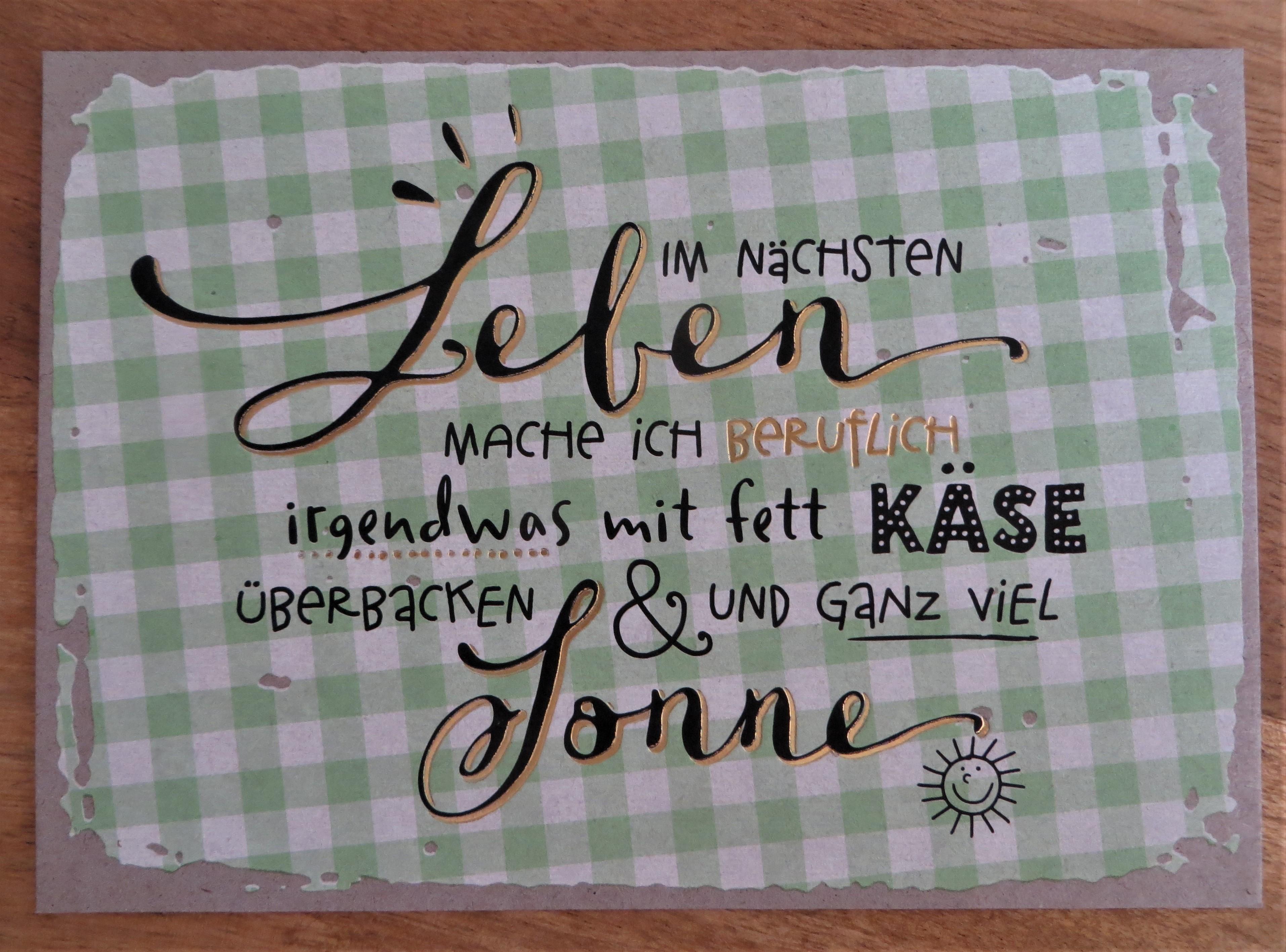 Nützlichgrusskarten - Postkarte Im nächsten Leben mache ich beruflich irgendwas mit... KUNST und BILD - Onlineshop Tante Emmer