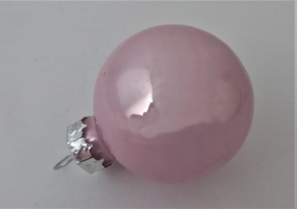 Christbaumschmuck Glaskugel rosa glänzend 30 mm