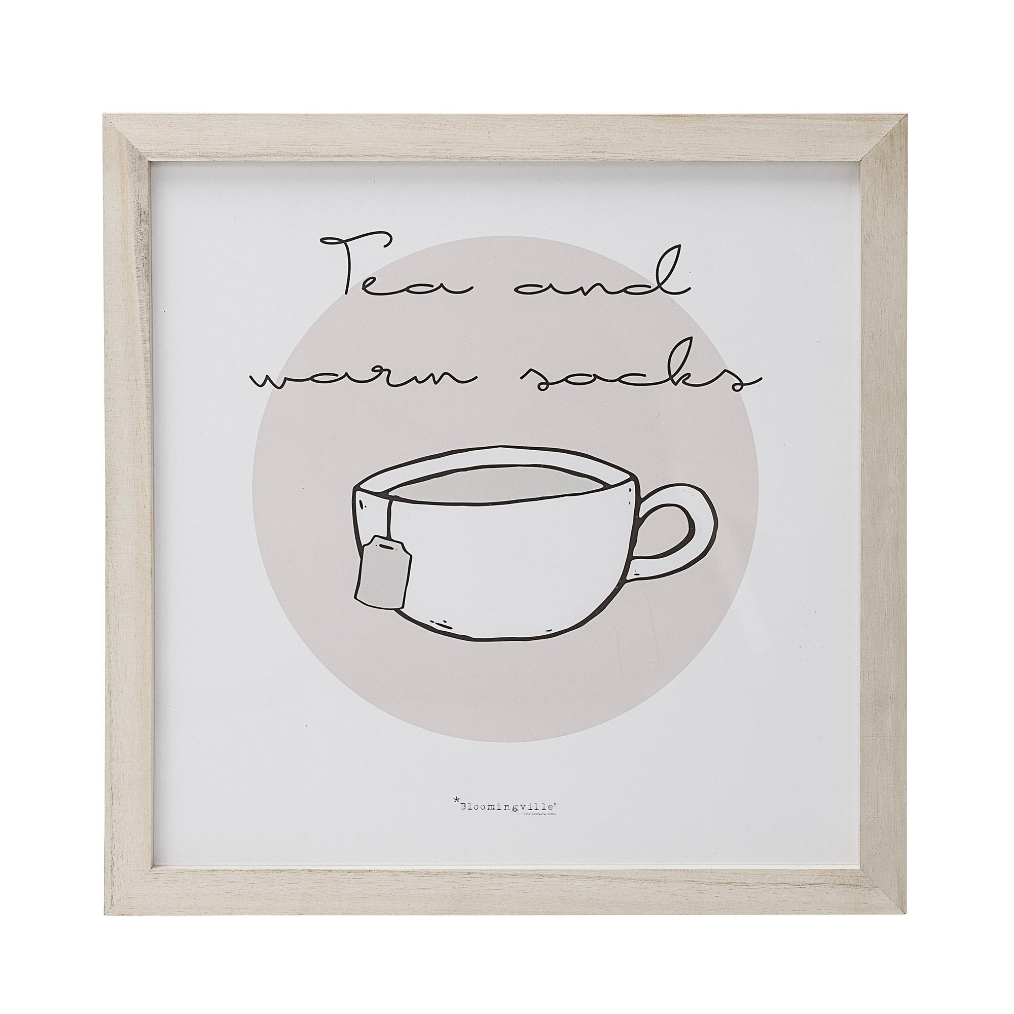 Witzigschilder - Bild in Naturholzrahmen Tea and warm socks - Onlineshop Tante Emmer
