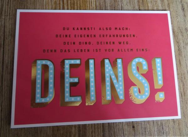"""Postkarte """"DU KANNST: ALSO MACH: DEINE EIGENEN ERFAHRUNGEN, DEIN DING,..."""" VintageArt"""