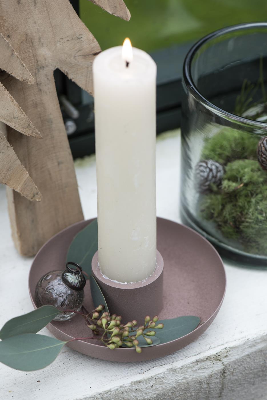 Nützlichdekoration - Kerzenständer Kerzenhalter für Stab oder Stumpenkerze Malve Ib Laursen ApS - Onlineshop Tante Emmer