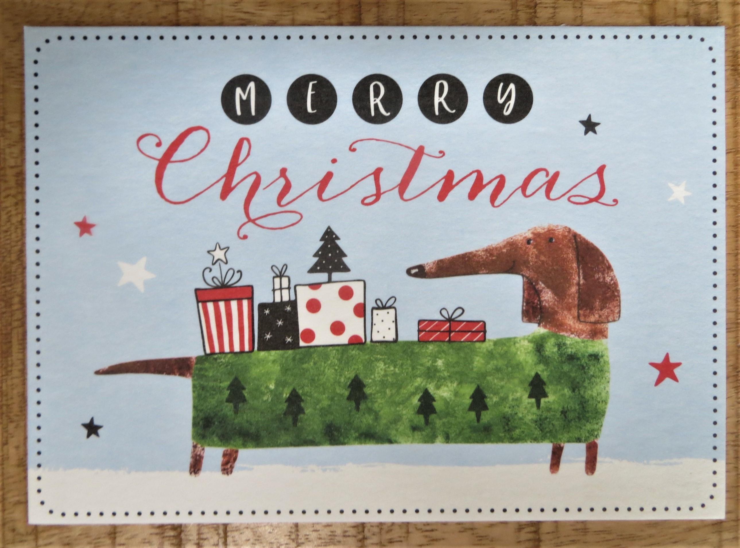Nützlichgrusskarten - Postkarte Merry Christmas - Onlineshop Tante Emmer