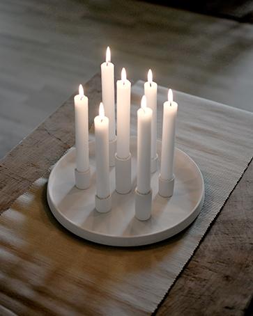 Nützlichdekoration - LINGSBERG Kerzenhalter Weiß 29 cm Storefactory - Onlineshop Tante Emmer