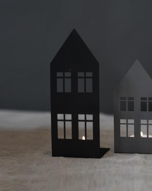 Nützlichdekoration - STORGATAN Kerzenleuchter Teelichthalter Metall Schwarz 18cm Storefactory - Onlineshop Tante Emmer