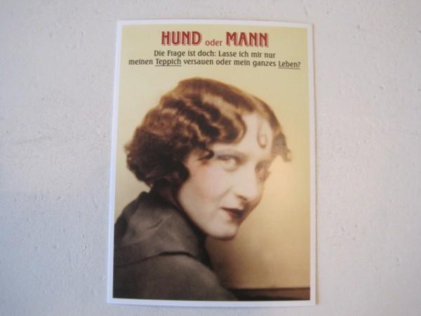 """Postkarte Karte """"HUND oder MANN Die Frage ist doch: Lasse ich mir nur meinen Teppich..."""" P"""
